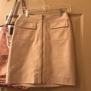 Ann Taylor Khaki Zip Pocket Skirt
